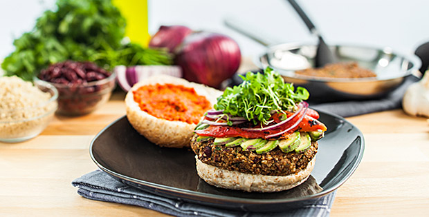 Quinoa Bean Burger